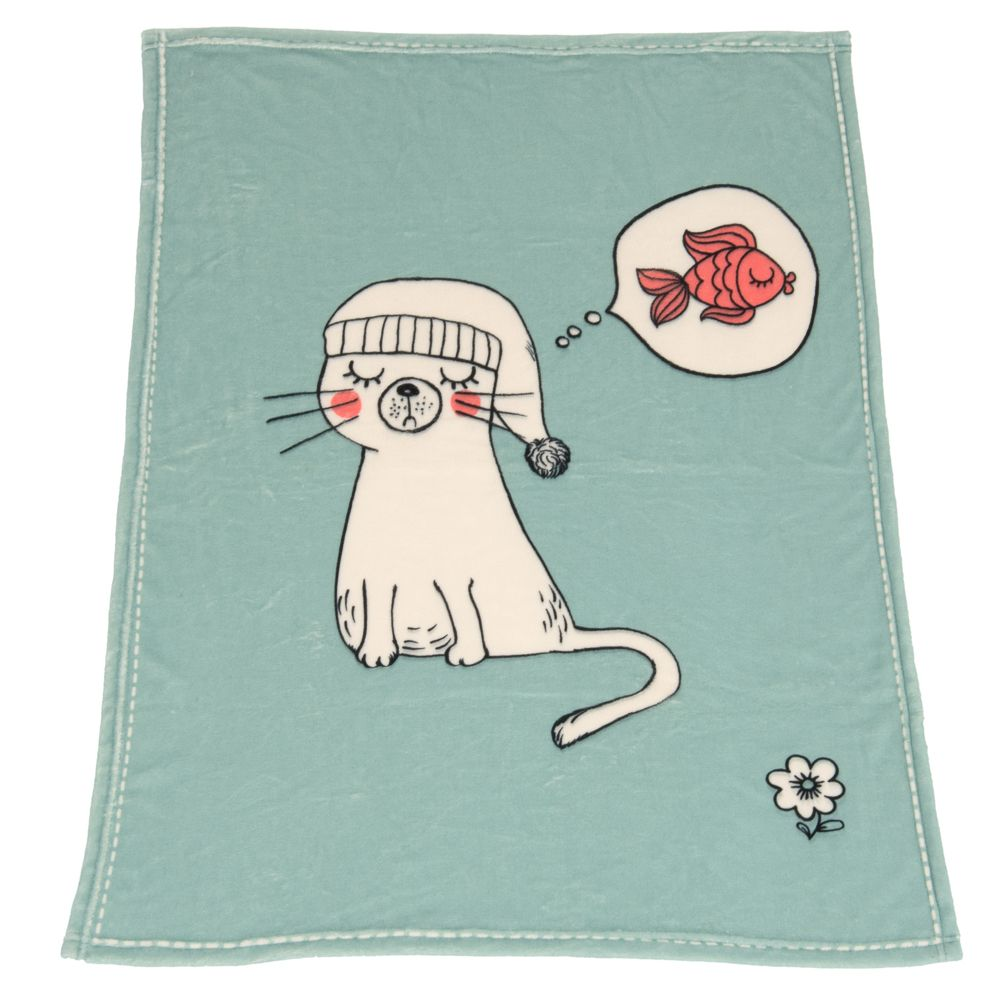 zoolove Dreamy Snuggle Cat Blanket