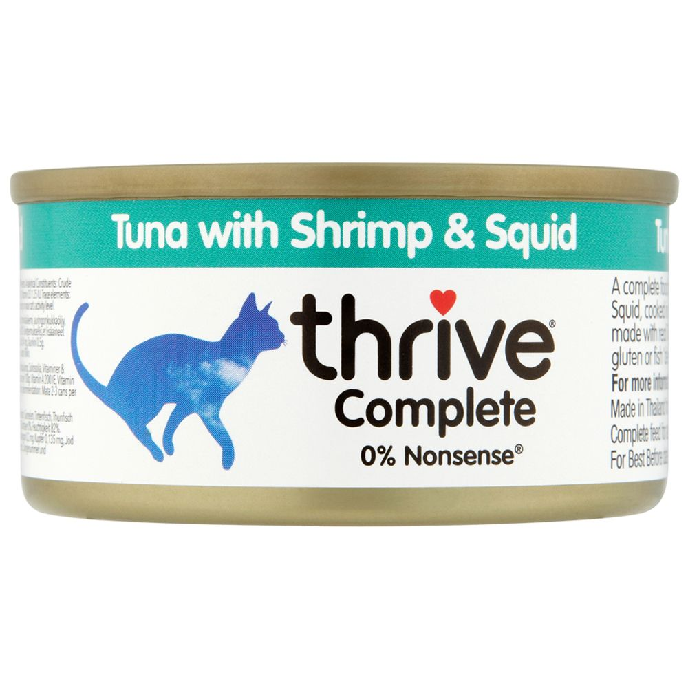 Tuna with Shrimp & Squid thrive Complete Wet Cat Food