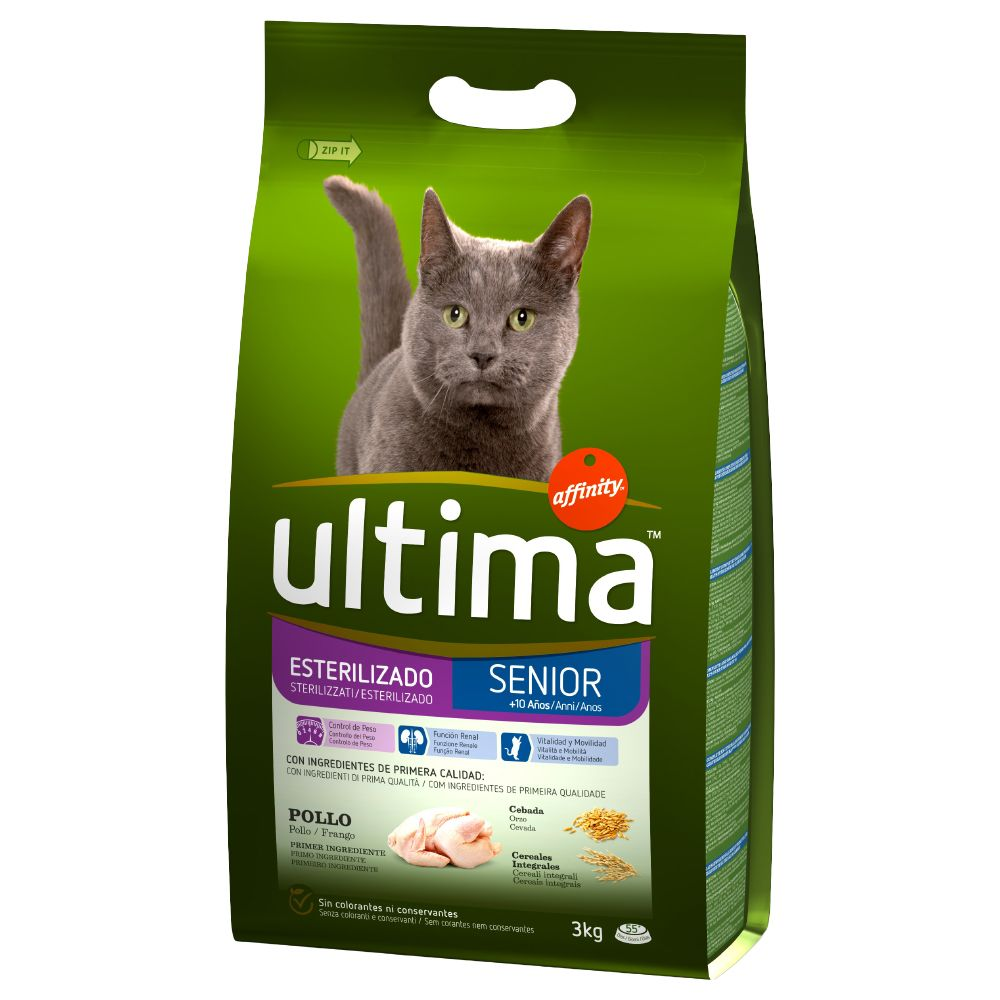 Sterilised Senior Chicken Ultima Dry Cat Food