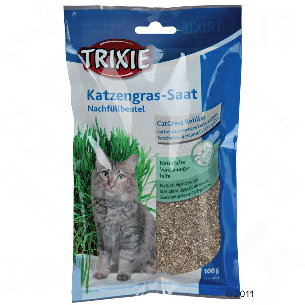 Trixie Katzengras Nachfüllbeutel - 3 x 100 g