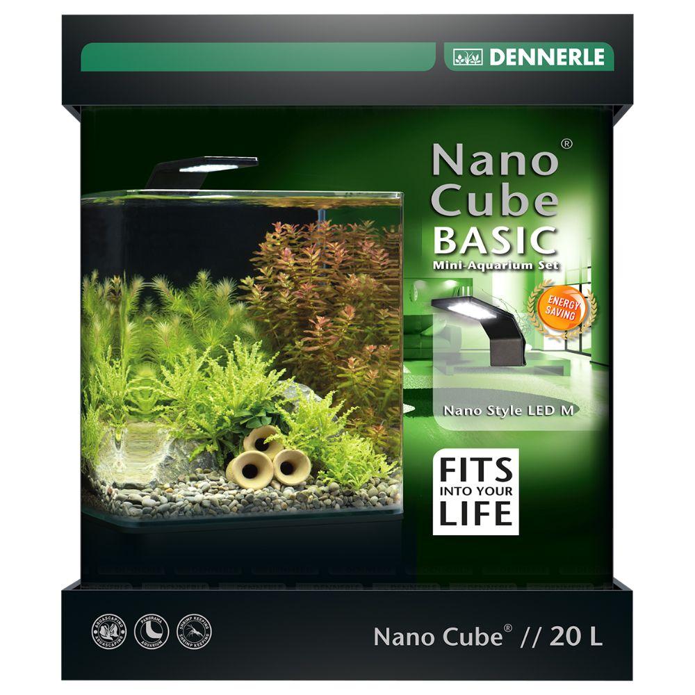 Image of Acquario Dennerle Nano Cube Basic LED 20 L - L 25 x P 25 x H 30 cm
