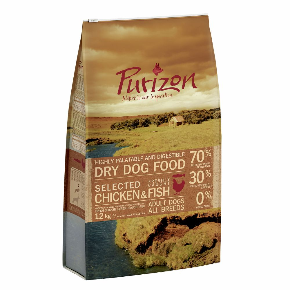 Grain-Free Chicken & Fish Purizon Dry Dog Food