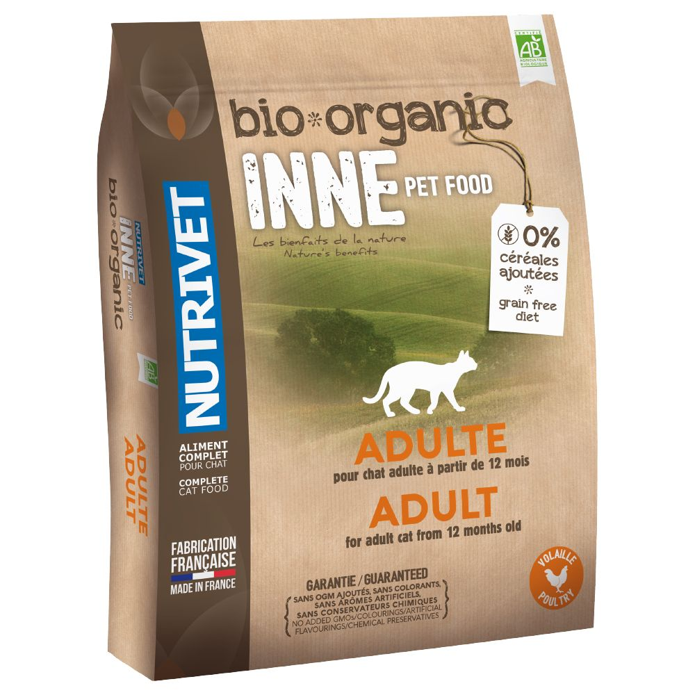 A complete balanced kibble for adult cats aged between 1-7 years, Nutrivet Inne Organic Dry Cat Food has been developed around nature, containing a particularly hi...