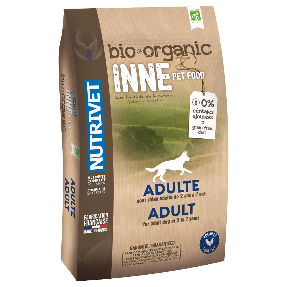 Nutrivet Inne Organic Dry Dog Food is a balanced dry food for adult dogs between the ages of 2-7 years, developed around the example set by nature. Nutrivet Inne O...