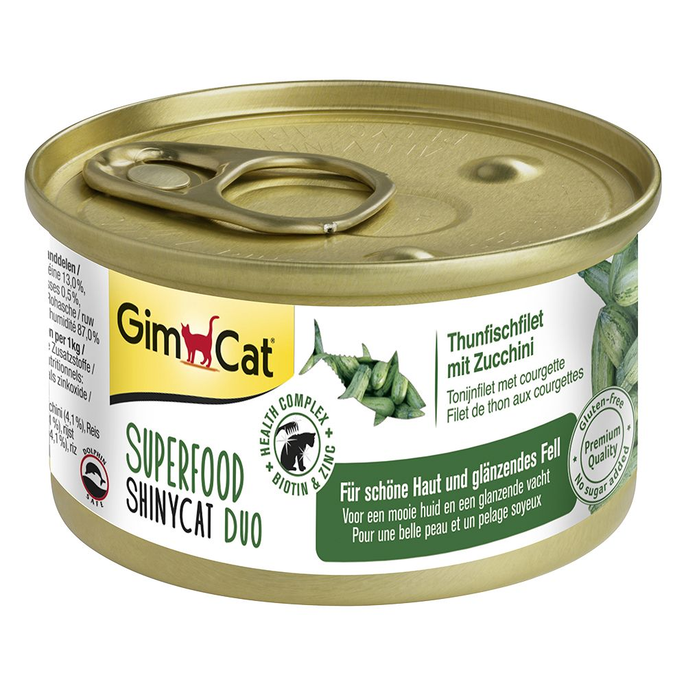 6x70g GimCat Superfood Trial Pack + 50g Digestion Duo Paste