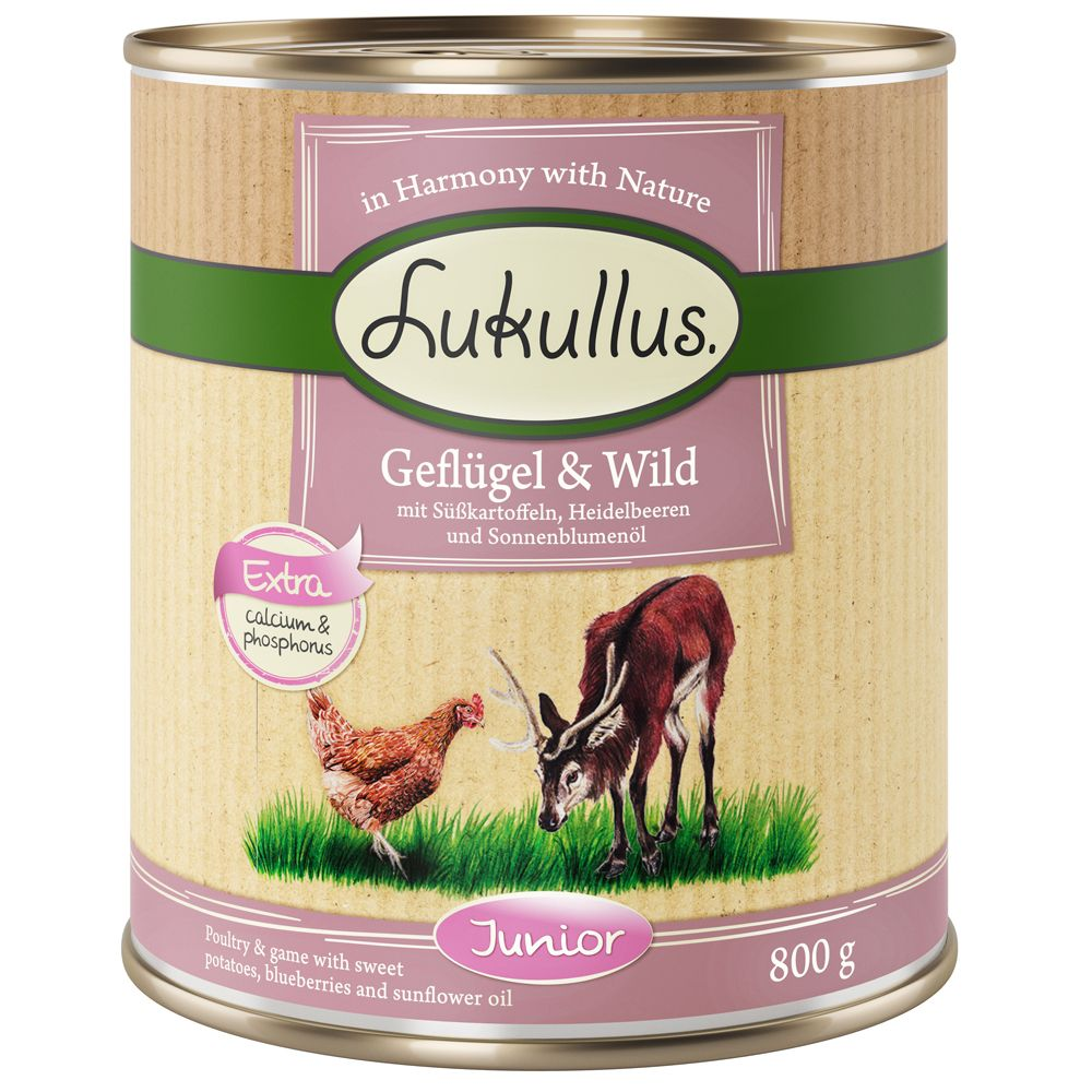 Poultry & Game Junior Lukullus Wet Dog Food