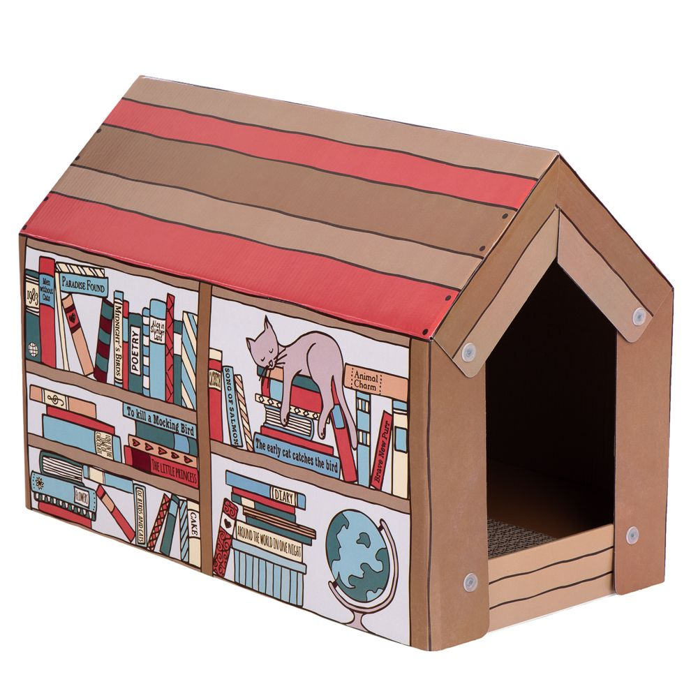 zoolove Cat Home with Scratch Pad Winter Edition