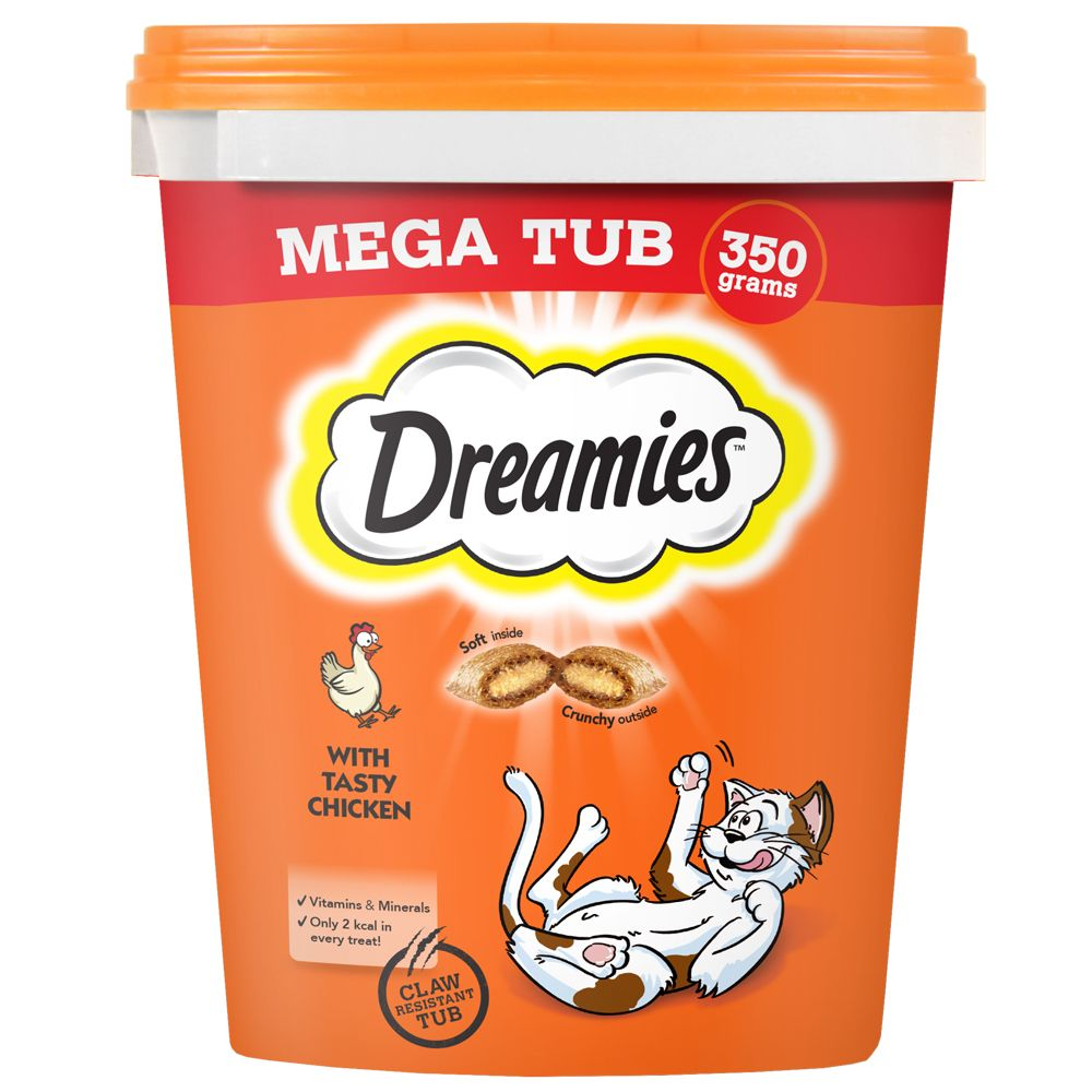3 x Dreamies Cat Snacks - 2 + 1 Free!* - Cat Treats - Salmon (3 x 60g)