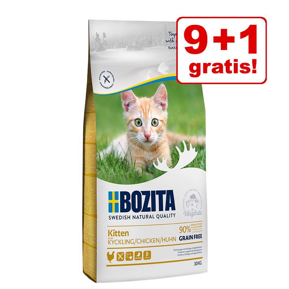 9 kg + 1 kg gratis! 10 kg Bozita Katzenfutter - Grainfree Diet & Stomach Elch