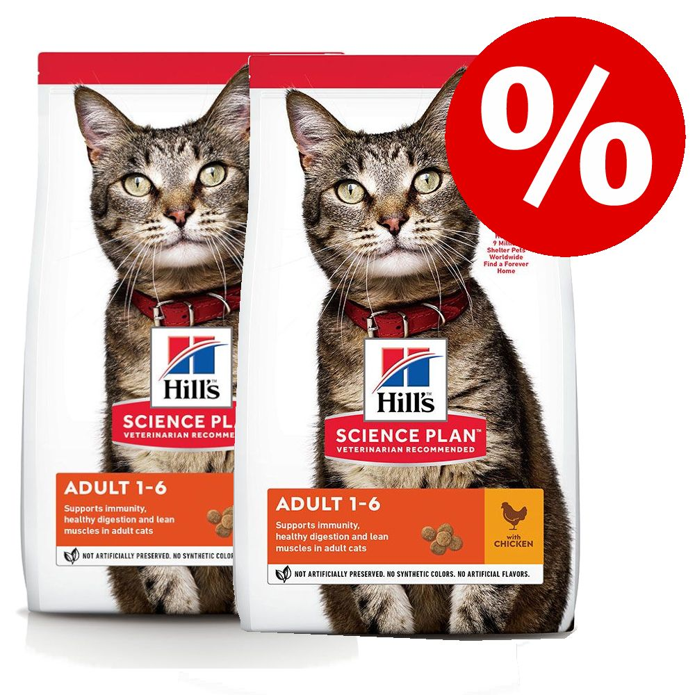 Kanonpris! 2 stora påsar Hill's Science Plan kattfoder! Kitten Chicken 2 x 7 kg