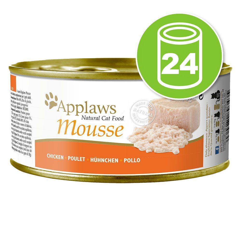 24x70g Applaws Mousse saumon - Pâtée pour chat