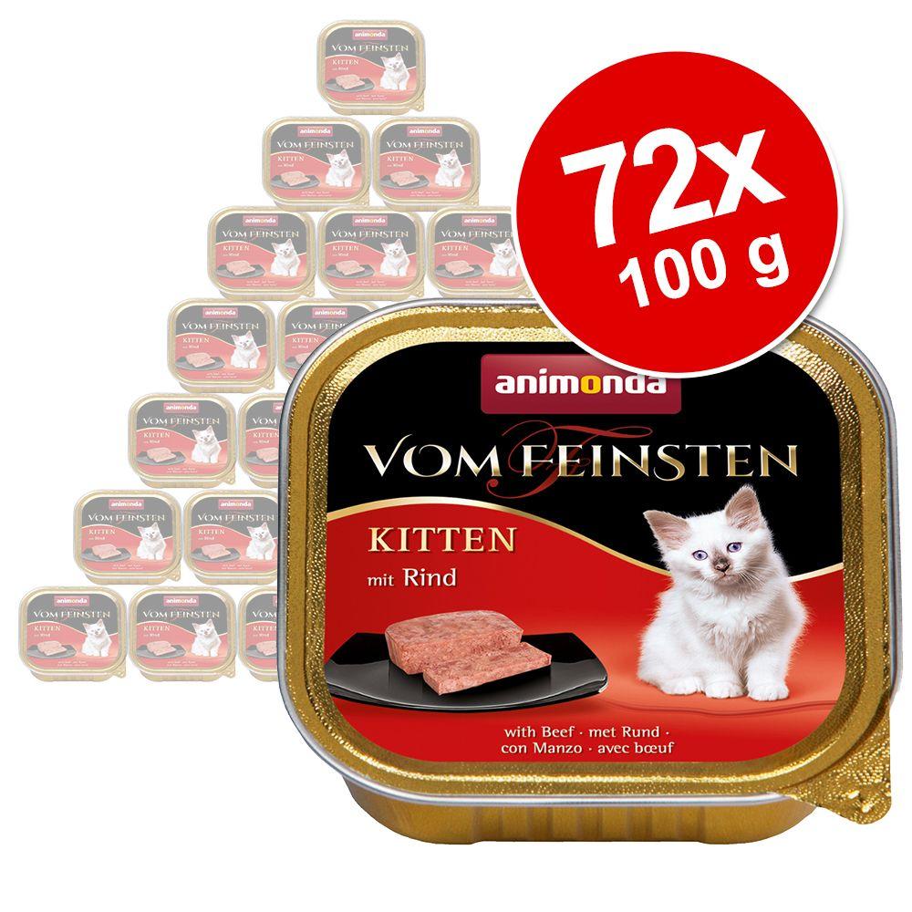 Ekonomipack: Animonda vom Feinsten Kitten 72 x 100 g Lamm