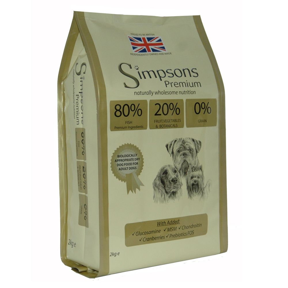 Simpsons Premium 80/20 Adult Dog - Fish - 12kg