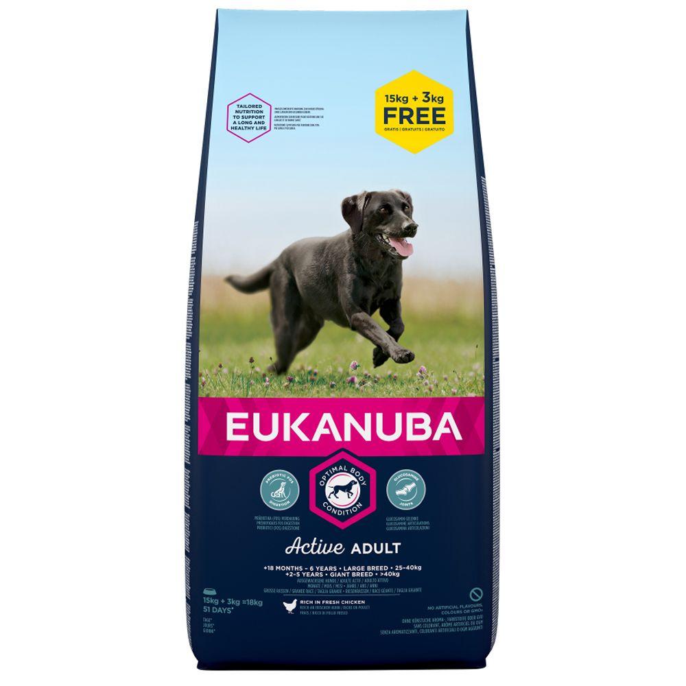15kg Eukanuba + 3kg Extra Free