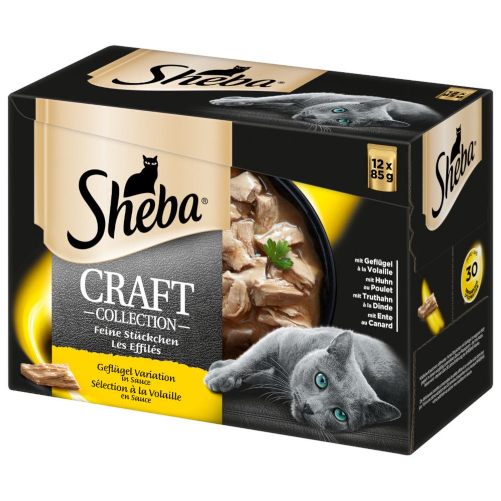 Poultry Selection in Gravy Shredded Pieces Sheba Craft Collection Adult Wet Cat Food