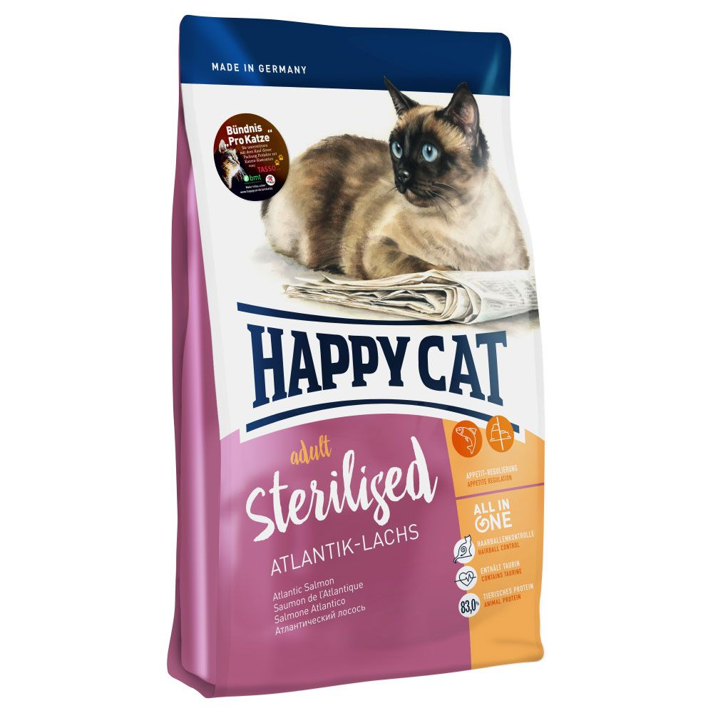 Happy Cat Adult Sterilised Atlantic Salmon Dry Food