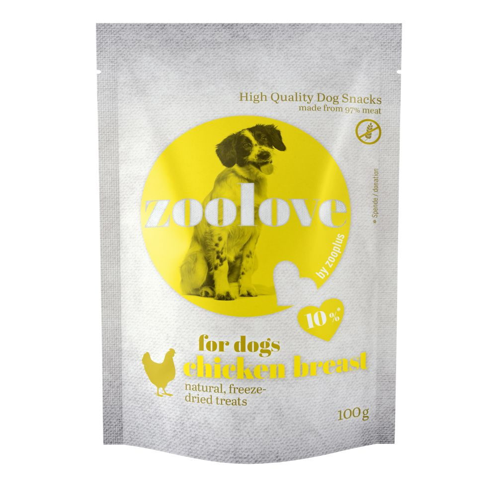 zoolove Freeze-dried Dog Treats Chicken Breast