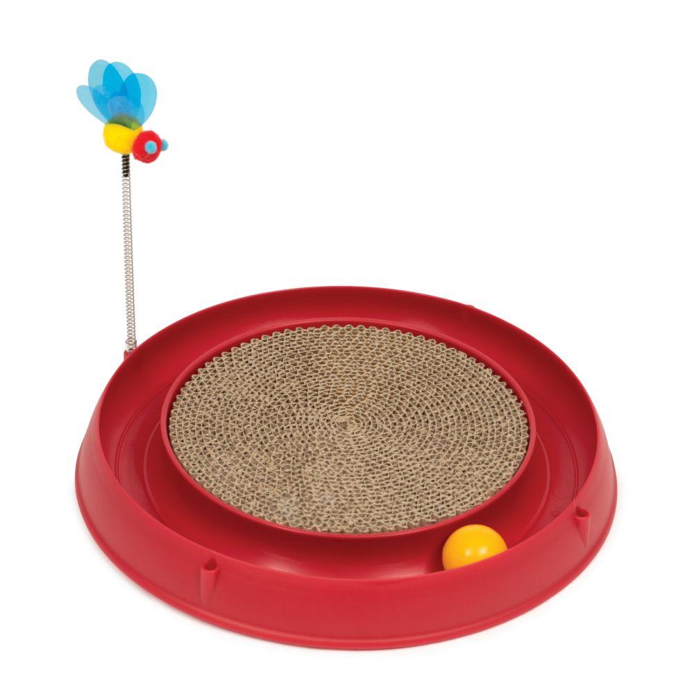 Catit Play-N-Scratch - 3 in 1 - Röd ca Ø 36 x H 25 cm