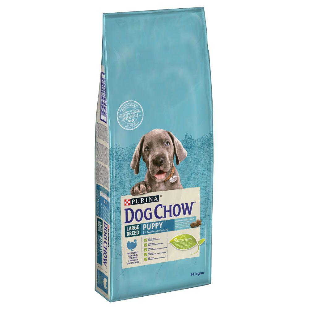 Purina Dog Chow Puppy Large Breed Turkey - Ekonomipack: 2 x 14 kg