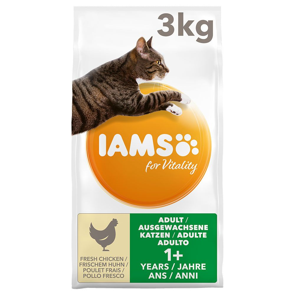 Iams for Vitality Adult Chicken Dry Cat Food 3kg