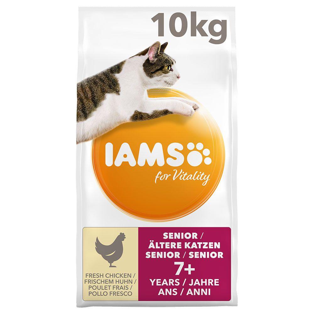 2x10kg Chicken Senior for Vitality IAMS Dry Cat Food