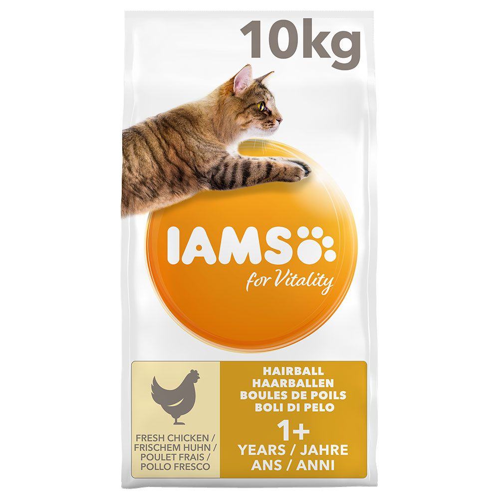 IAMS for Vitality Hairball Adult Chicken Ekonomipack: 2 x 10 kg