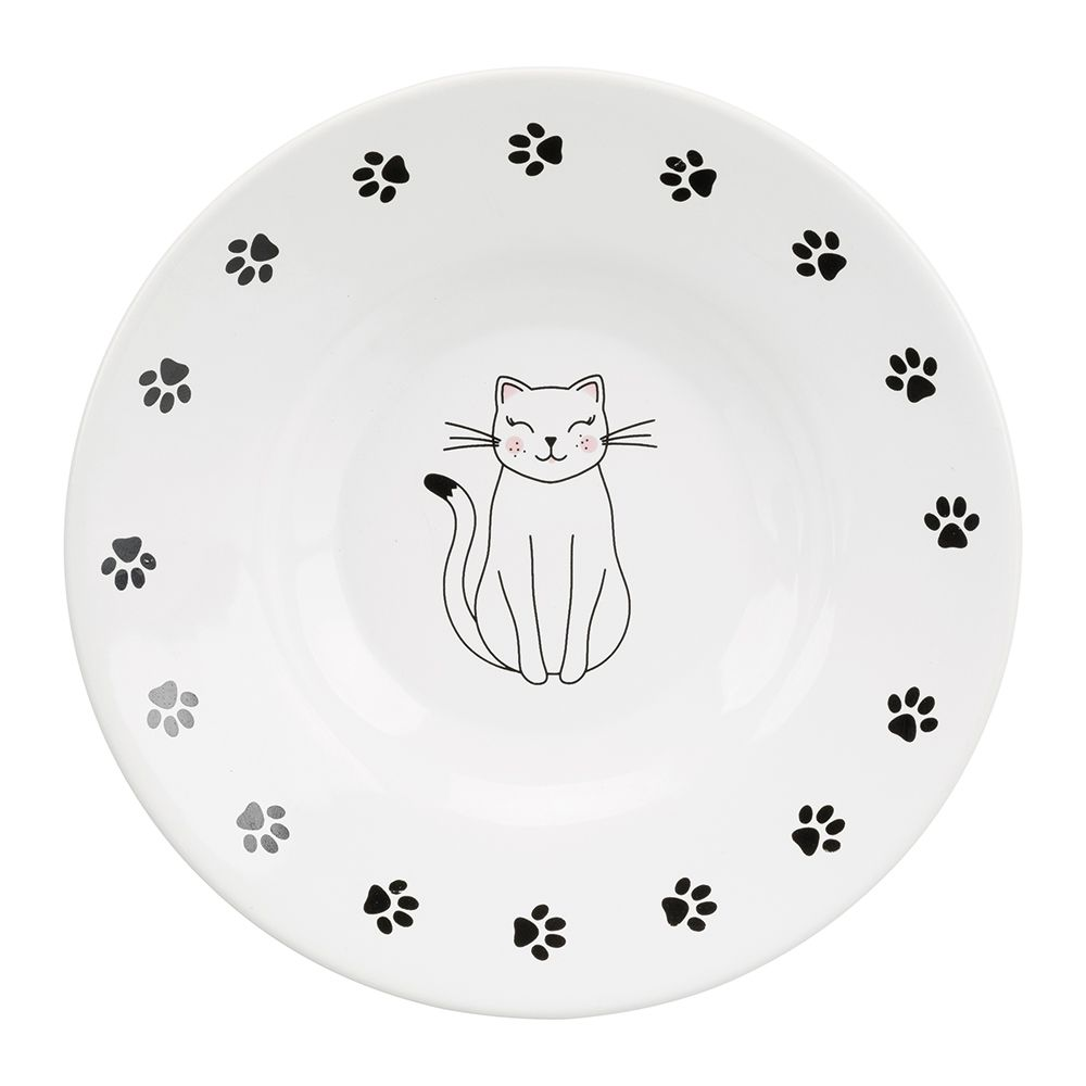 Trixie Ceramic Cat Dish for Short-Nosed Breeds - 0.2 litre