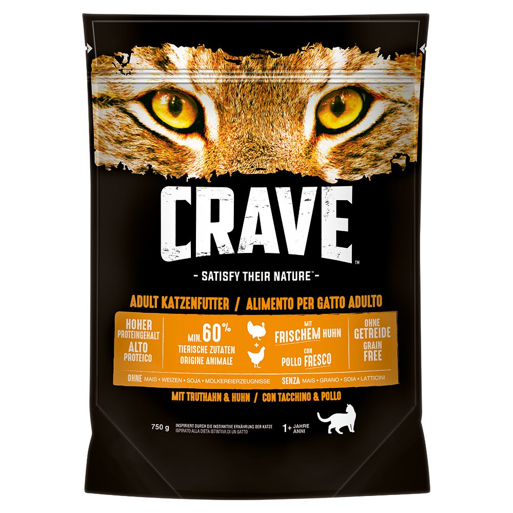 Turkey & Chicken Adult Crave Dry Cat Food