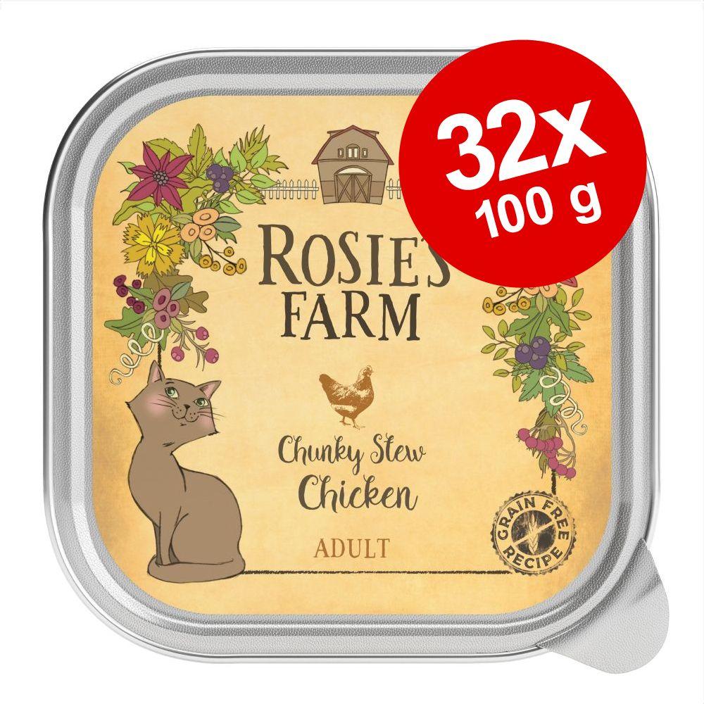 Ekonomipack: Rosie's Farm Adult 32 x 100 g - Kyckling