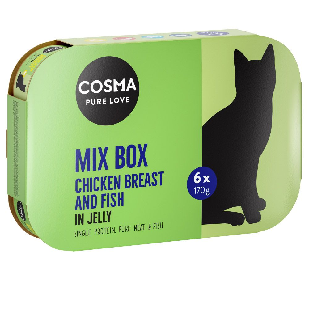 6 x 170g Cosma Original Wet Cat Food in Jelly