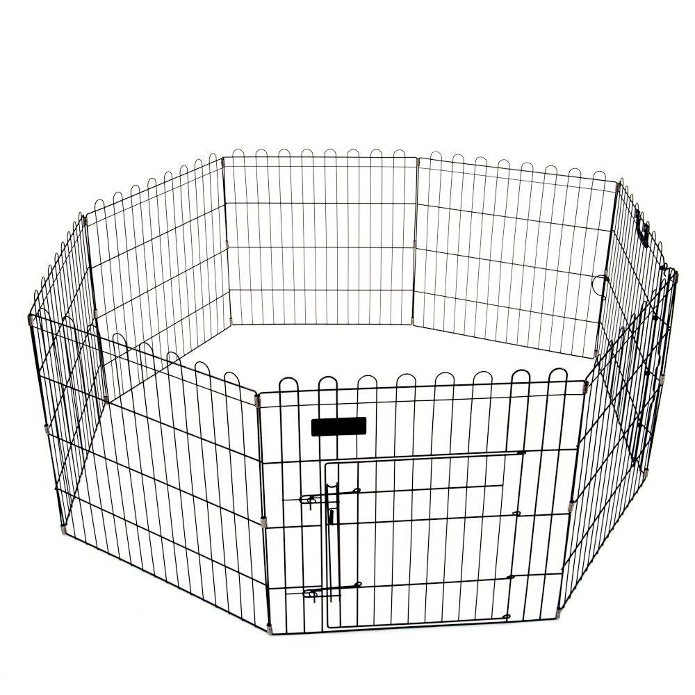 Bild Freigehege Outback 8-Eck für Kleintiere schwarz - 8 Elemente à L 57 cm x B 76,5 cm