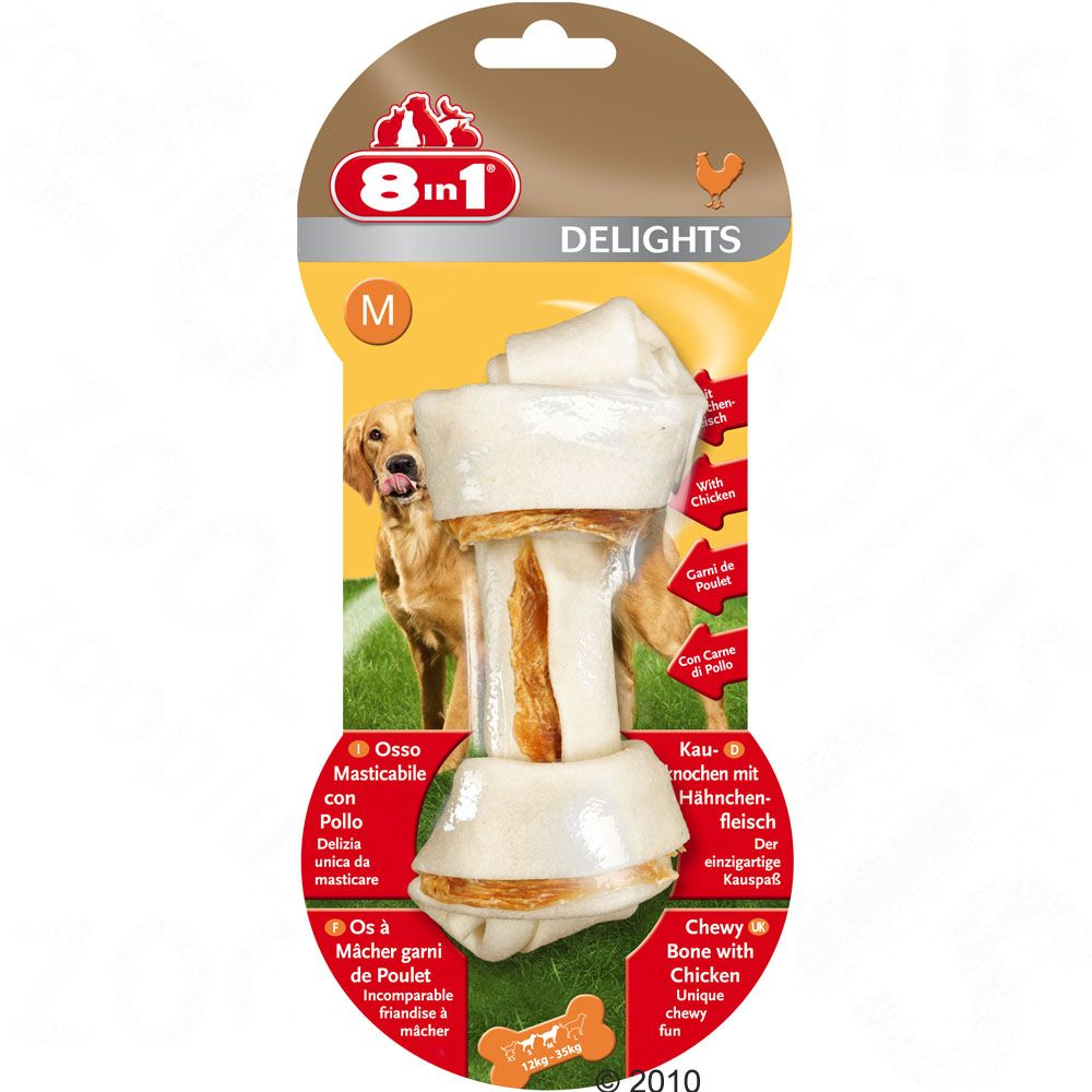 8in1 Delights kość do żucia z kurczakiem - L, 85 g