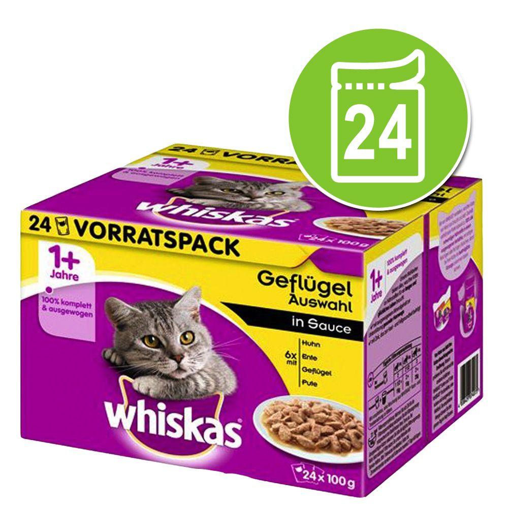24x100g viande en sauce Whiskas 1+ pour chat