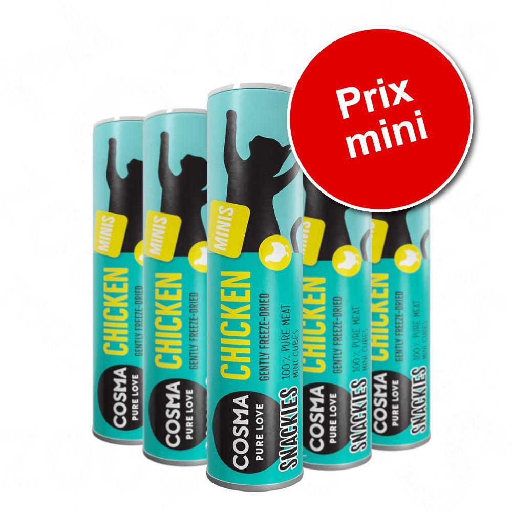 105g Cosma Snackies Minis Friandises lyophilisées 5 x saumon - Friandises pour chat