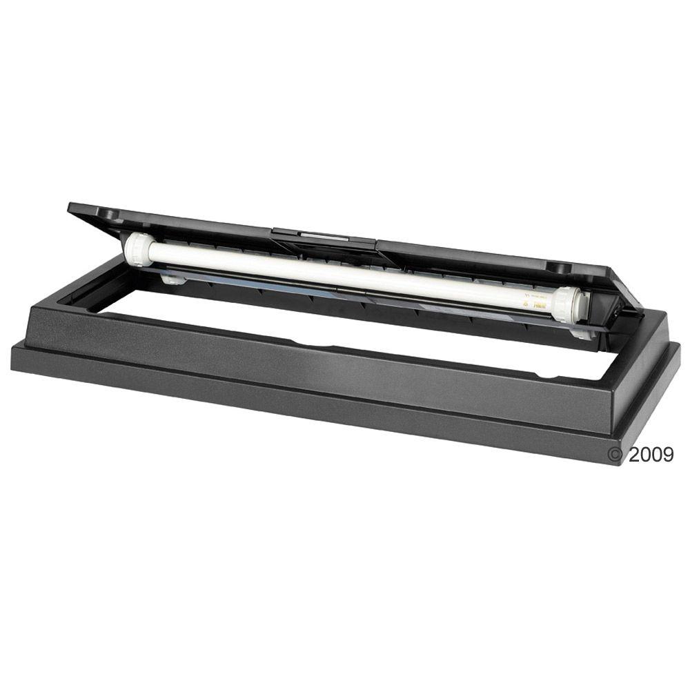 Duolux Abdeckleuchte in schwarz mit 80 x 35 cm