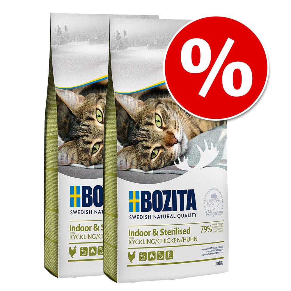 Ekonomipack: 2 x 10 kg Bozita Feline kattfoder till lågpris! Large Grainfree 2 x 10 kg