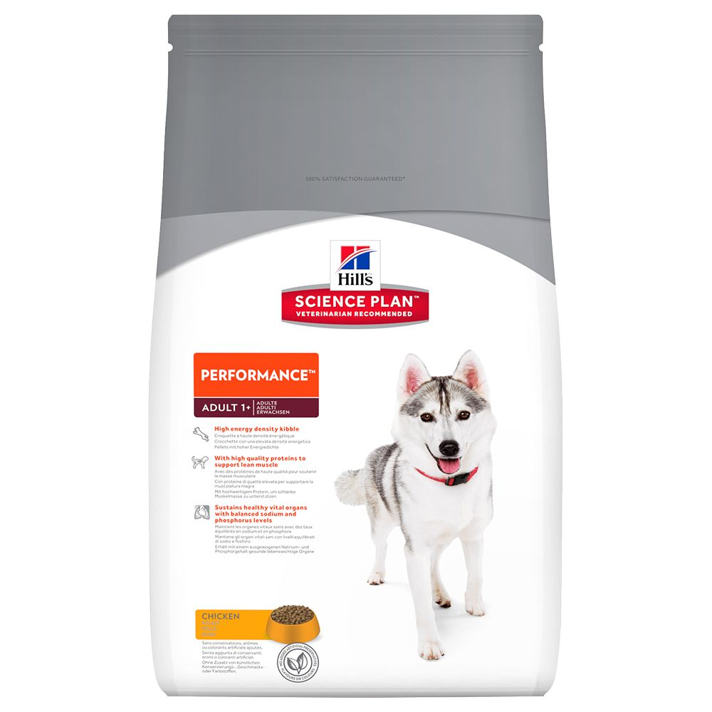 Hill's Science Plan Adult Performance Chicken was developed for adult dogs aged between one and six years which are very active or are exposed to particularly high...
