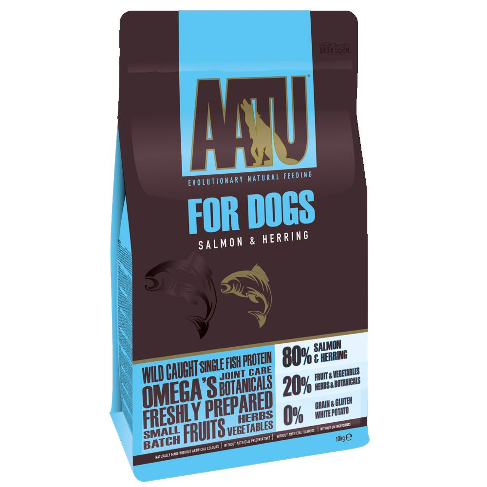 10kg AATU 80/20 Salmon Grain-Free Dry Dog Food