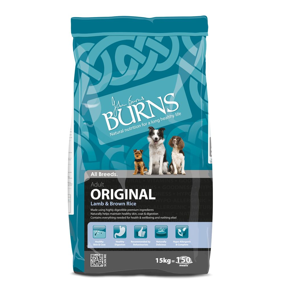 Burns Adult Original - Lamb & Brown Rice - Economy Pack: 2 x 15kg