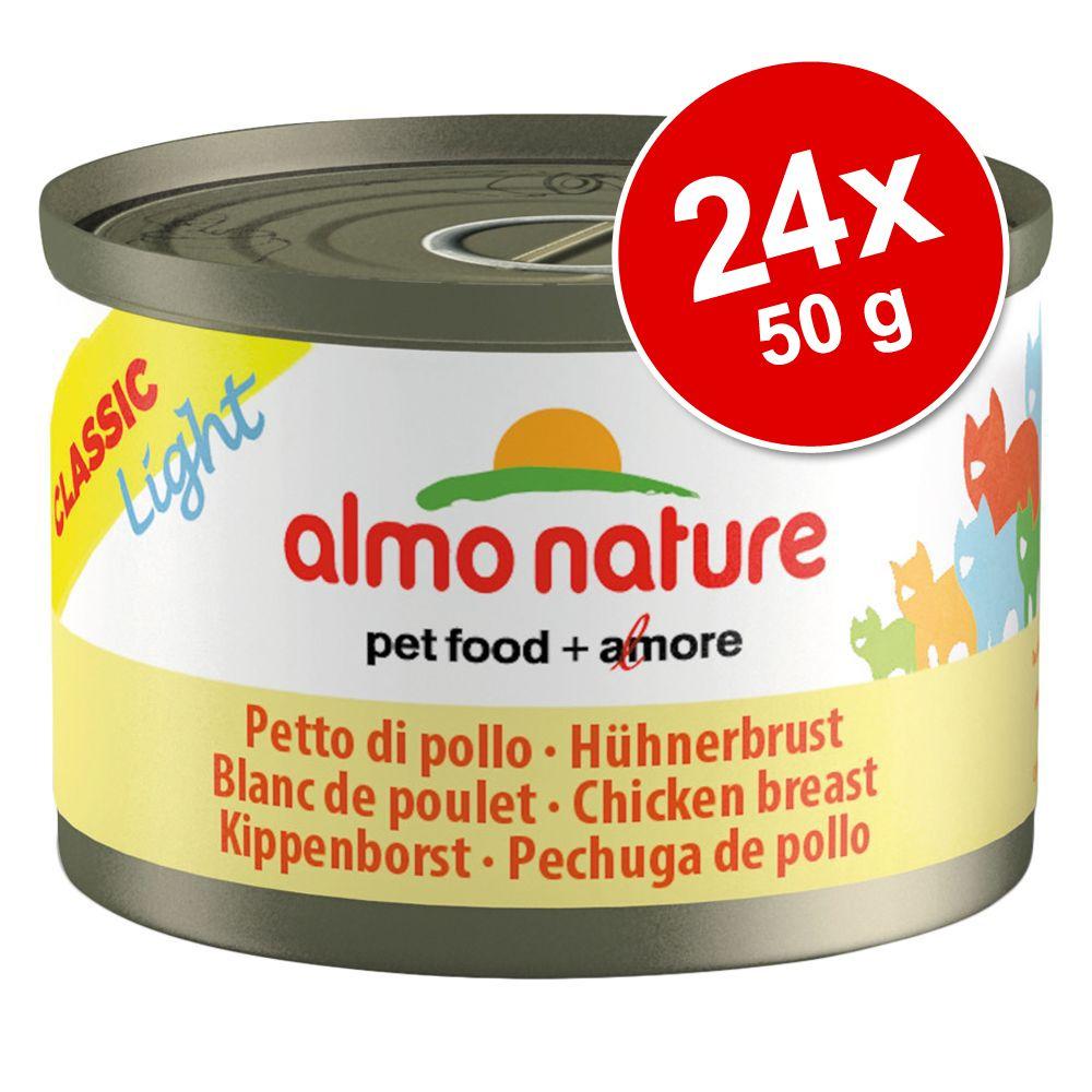 Ekonomipack: Almo Nature Classic Light 24 x 50 g - Kycklingbröst
