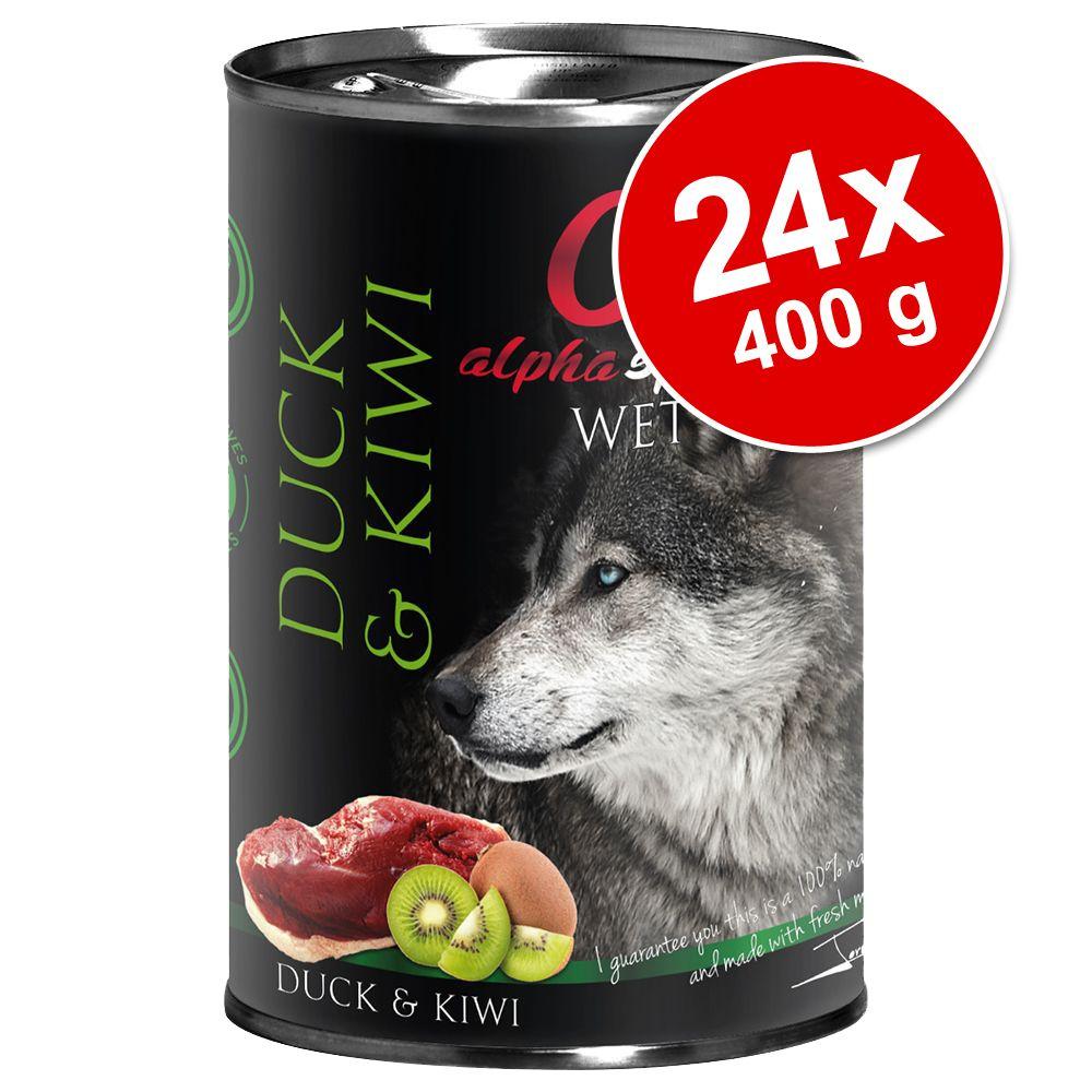 Ekonomipack: Alpha Spirit våtfoder 24 x 400 g - Mix I: Beef + Lamb