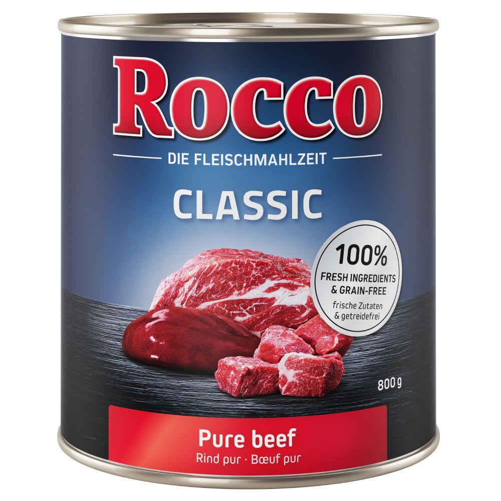 6x800g Classic pur bœuf Rocco - Nourriture pour chien