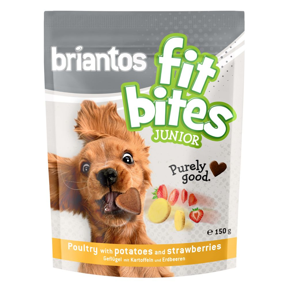 """Image of Briantos """"FitBites"""" Junior Pollame con Patate & Fragole - Set %: 3 x 150 g"""