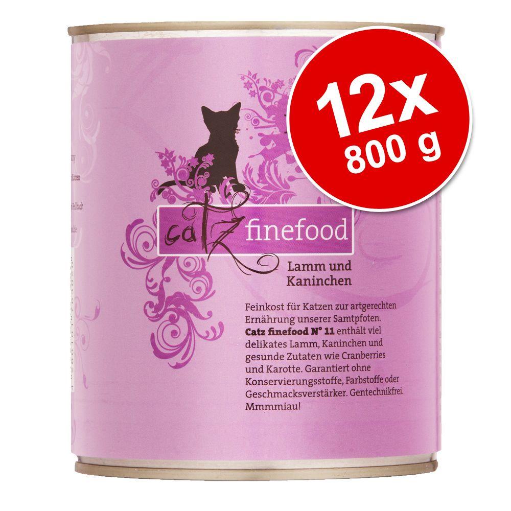 Ekonomipack: catz finefood på burk 12 x 800 g - Lamm & kanin