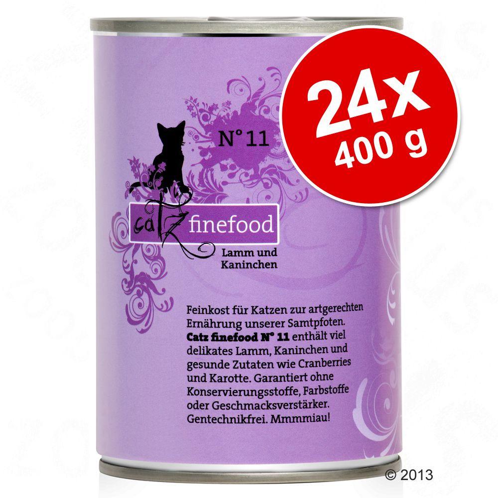 Ekonomipack: catz finefood på burk 24 x 400 g - Blandpack II