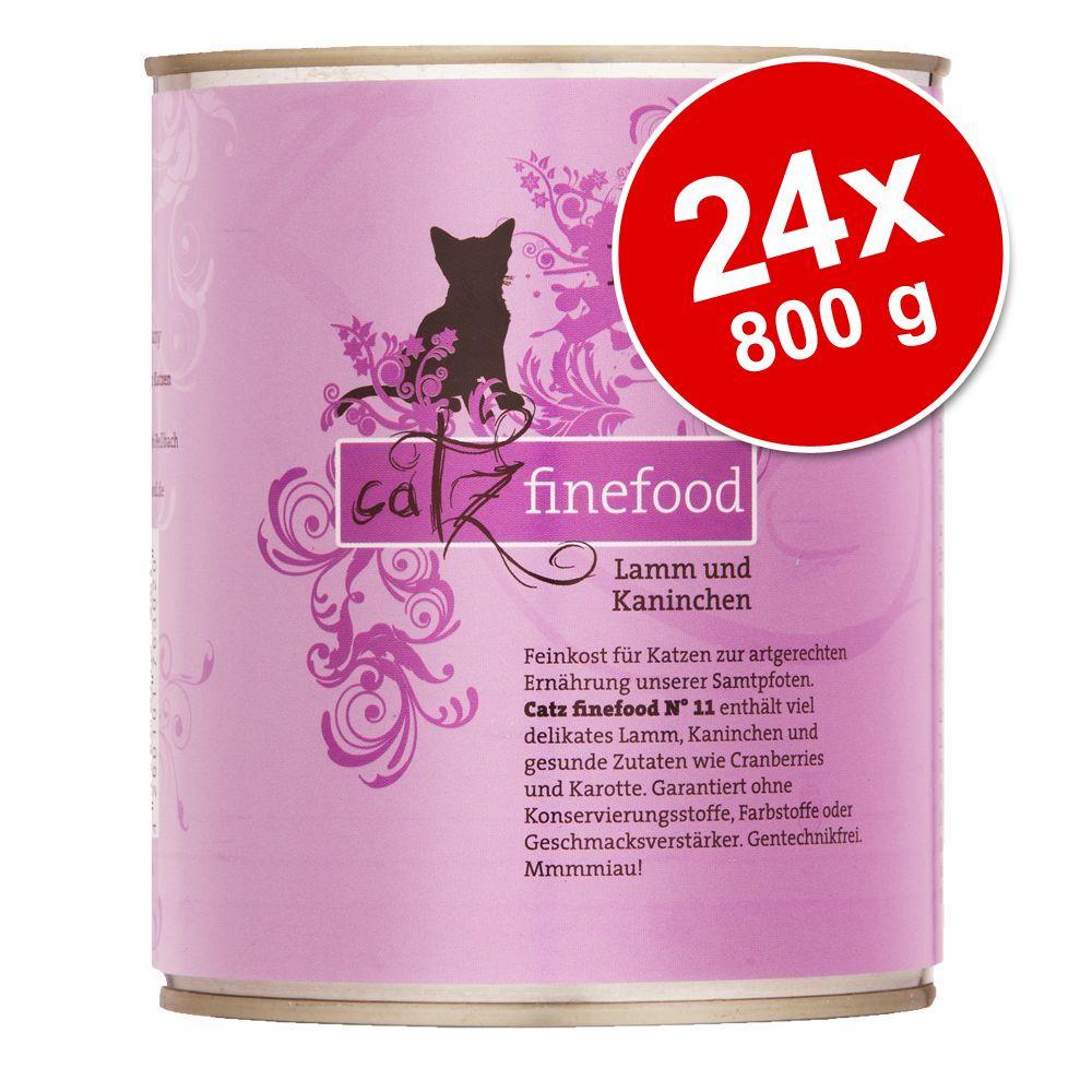 Ekonomipack: catz finefood på burk 24 x 800 g - Fågel