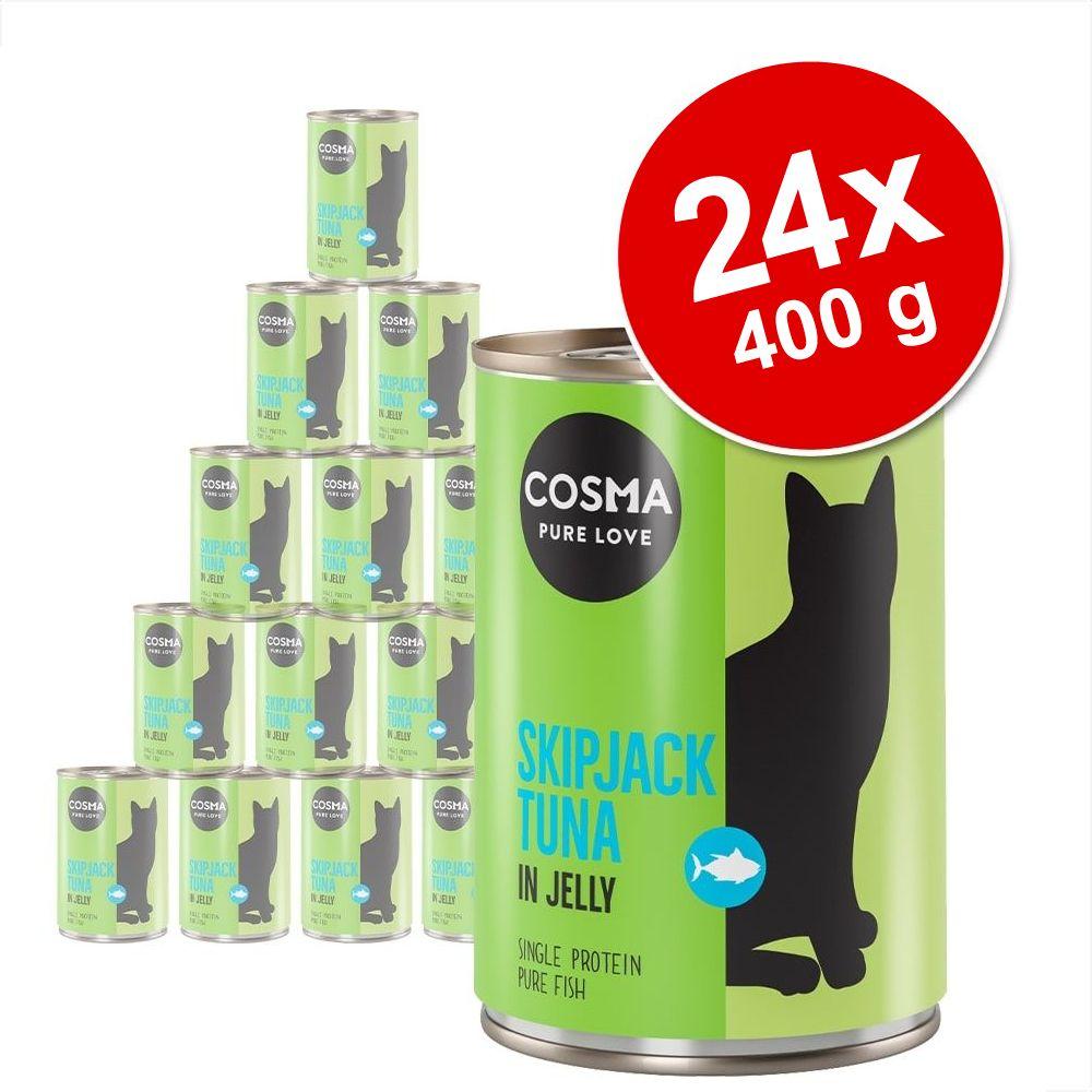 Økonomipakke: 24 x 400 g Cosma Original i gelé  - Kyllingebryst