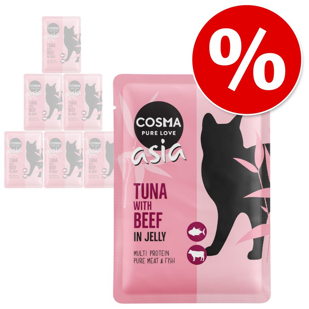 Prova-på-pris: 6 x 100 g Cosma Original och Cosma Thai/Asia - Original Pacific tonfisk