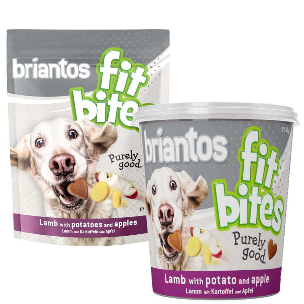 "Image of Briantos ""FitBites"" Agnello con Patate & Mela - Set %: 3 x 150 g Buste"