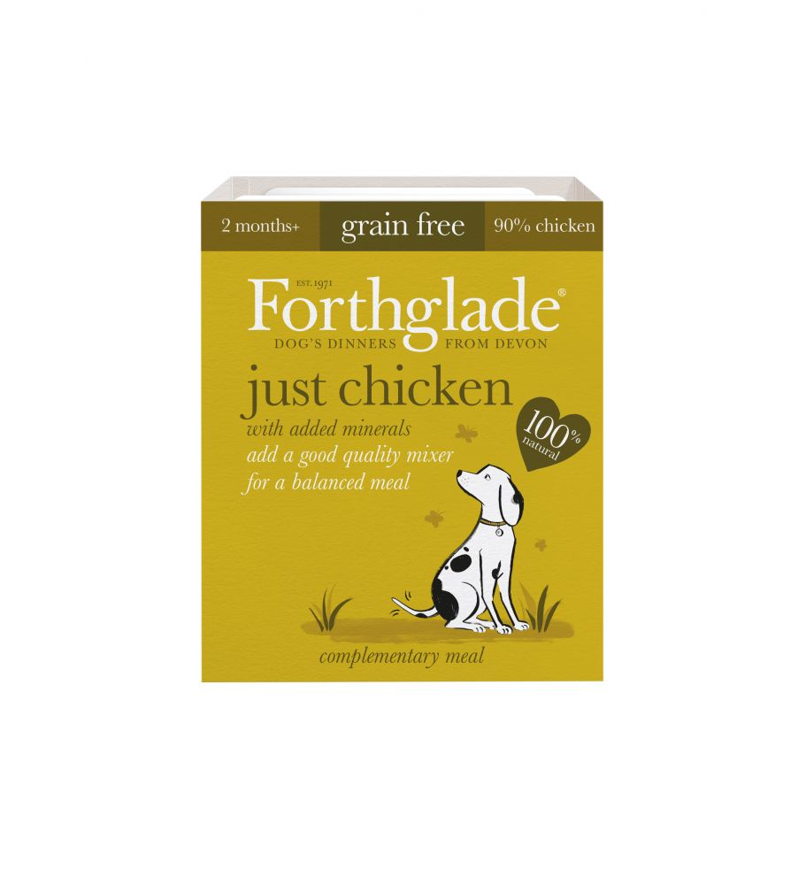 Forthglade Just 90% Complementary Meal – Chicken is the ideal addition to any dry food diet, full of delicious flavour thanks to the high 90% chicken content of th...